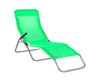 Deck chair isolated on white Royalty Free Stock Photos