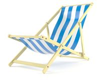 Deck chair. Isolated on white background Royalty Free Stock Photography