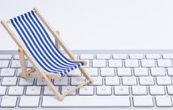 Deck Chair and keyboard Royalty Free Stock Image