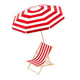deck chair with umbrella Stock Photography