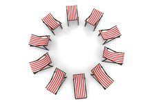 Deck chairs Stock Photography