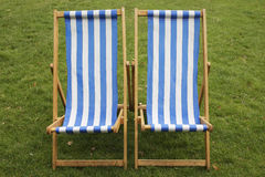 Deck chairs Royalty Free Stock Photo