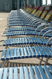 Deck Chairs. Empty Deck Chairs Stock Photos