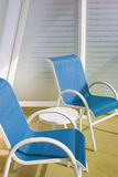 Deck chairs. Deck chair set on a balcony Royalty Free Stock Photo
