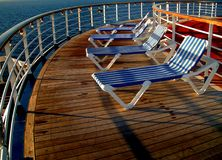 Deck Chairs. On deck of cruise ship Royalty Free Stock Photography