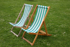 Deck chairs Royalty Free Stock Photos