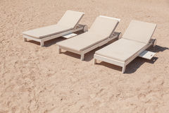 Deck Chairs On Beach Royalty Free Stock Image