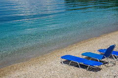 Deck chairs Stock Photos