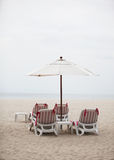 Deck chairs - copy space. Stock Image