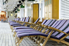 Deck Chairs. On cruise ship.  taken july 2013 Stock Images