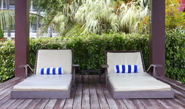 Deck chairs Stock Images