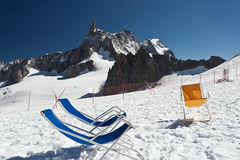 Deck-chairs on the glacier Stock Image