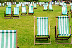 Deck Chairs in Green Park Stock Image