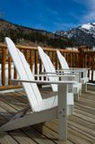 Deck Chairs in the mountains Royalty Free Stock Photo
