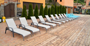 Deck chairs Royalty Free Stock Photography
