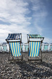 Deck Chairs at The Seaside Stock Photography