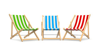 Deck chairs Royalty Free Stock Images