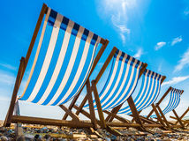 Deck Chairs in the Sun Stock Image