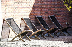 The deck chairs Stock Photo