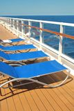 Deck chairs waiting on a cruise ship Royalty Free Stock Photography