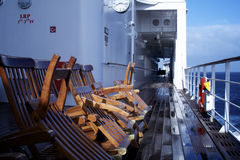 Deck Chairs & Wet Deck Stock Images