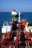 Deck of chemical tanker Royalty Free Stock Images