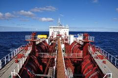 Deck of cmemical tanker Stock Photos