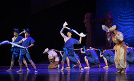 """Deck Concerto-Dance drama """"The Dream of Maritime Silk Road"""". Dance drama """"The Dream of Maritime Silk Road"""" centers on the plot of two generations Stock Images"""
