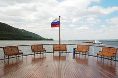 A deck on cruise boat Stock Photo