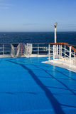 Deck of a cruise liner Royalty Free Stock Photography