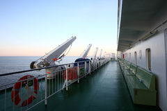 Cruise deck Royalty Free Stock Photo
