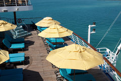 The deck on a cruise ship Stock Photos