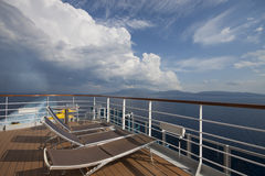 Deck of a cruise ship Stock Photography
