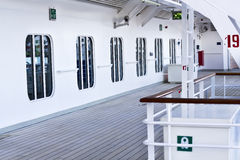 Deck on a cruise ship Royalty Free Stock Photo