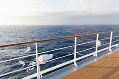 Deck cruise ship. Beautiful sea view from deck of cruise ship Royalty Free Stock Photo