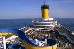 Deck cruise ship Costa Magica Stock Photos