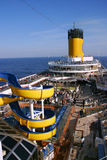 Deck cruise ship Costa Magica Royalty Free Stock Images