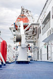 On the deck of a cruise ship Royalty Free Stock Photo