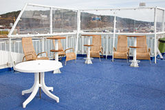 On the deck of a cruise ship Royalty Free Stock Photography