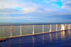 Deck on a cruise ship. Promenade open deck on a cruise ship Royalty Free Stock Photos