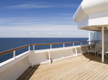 Deck of a cruise on a sunny day Stock Photo