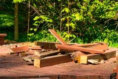 Deck demolition debris Stock Photography