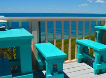Deck dining on the waterfront - Martha's Vineyard Royalty Free Stock Images