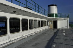 On Deck of a Ferry. In full sunshine Stock Images