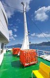 Deck of ferry Royalty Free Stock Photo