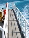 The deck of a ferry Stock Image