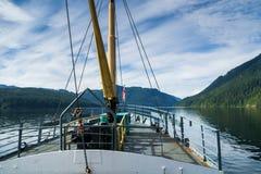 The deck of a ferry boat near Port Alberni, Vanouver Island, BC Stock Photos