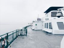 Deck of Ferryboat Stock Image