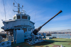 Deck Gun Navy Ship Minesweeper Monument Royalty Free Stock Photos