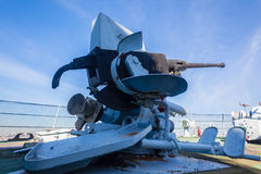 Deck Gun Navy Ship Monument Stock Photos